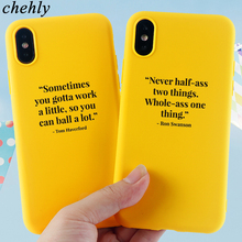 Fashion Phone Case for iPhone X XR XS Max 8 7 6S Plus Inspirational text Cases Soft Silicone Fitted Cell Accessories Cover