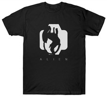 Alien T Camicia Sci-Fi Film Horror Movie 1980's Cult Hip-Hop Tee Shirt(China)