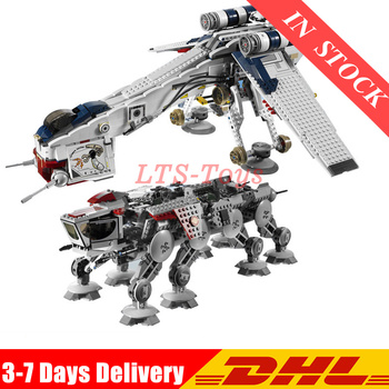 DHL 1788Pcs Star Was The Republic Dropship with AT-OT Walker Set Building Blocks Bricks Toys Compatible  10195  05053 1