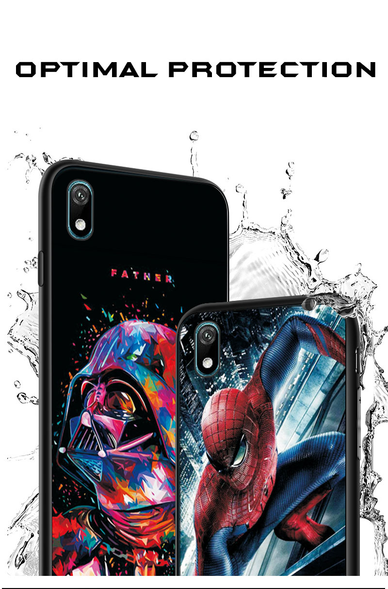 Shell case For Huawei Y5 Y6 Y7 Y9 2019 Y5 Lite Prime 2018 Honor 8S 8A with Clown and Spiderman graphics 7