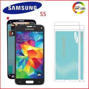 Image 1 - Originele Super Amoled 5.1 Display Voor Samsung Galaxy S5 Lcd Touch Screen Voor S5 I9600 G900 G900F G900M G900H SM G900F