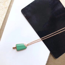 Diana high quality for Bulgaria S925 sterling silver necklace ice cream shape brand design ladies fashion luxury jewelry diana high quality for bulgaria s925 sterling silver necklace rotating round cake shape brand design ladies fashion jewelry