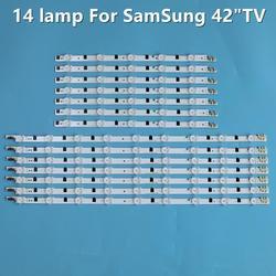 14 шт./компл. Светодиодная лента подсветки для Samsung UE42F5300 D2GE-420SCB-R3 D2GE-420SCA-R3 2013SVS42F CY-HF420BGAV1H BN96-25306A 25307A