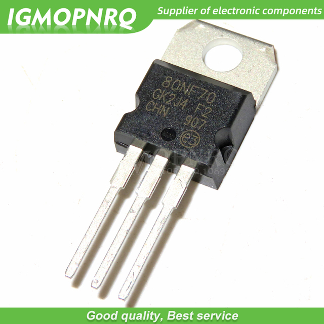 20 sztuk STP80NF70 80NF70 P80NF70 TO-220 80A 70V MOSFET n-ch 68V 0.0082 Ohm nowa oryginalna