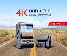 A129 Pro Duo VIOFO 4K çift Dash kamera Ultra HD 4K yol ön yeni 4K DVR süper gece görüş araba kamera ile GPS ve HK3