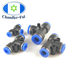10PCS Tee shape  Y Connector Air Pneumatic Push in Connect Fitting 3 equal Tube OD 3 Way Equal Pipe Fitting  Air Compressor various equal suffrage in australia