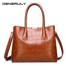 Women High Quality Leather Handbags Crocodile Leather Bags For Women Large Capacity Messenger Bag Luxurious Ladies Shoulder Bags стоимость