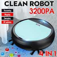 4 em 1 3200pa robô inteligente usb recarregável automático inteligente varrendo robô esterilizador uv forte sucção vassoura aspiradores de pó