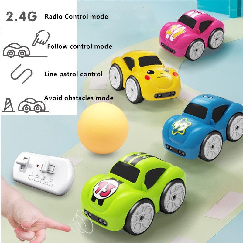 RC capteur Intelligent télécommande bande dessinée Mini voiture radiocommandée voitures électriques Mode Smart musique lumière jouets pour les enfants
