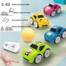 Mini coche de Control remoto con Sensor inteligente para niños, vehículo eléctrico controlado por Radio, modo de música inteligente