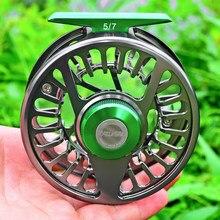 3 + 1bb molinete de alumínio para pesca, roda de pesca voadora 5/7-7/9-9/10 wt, máquina cnc molde para esquerda e direita novo