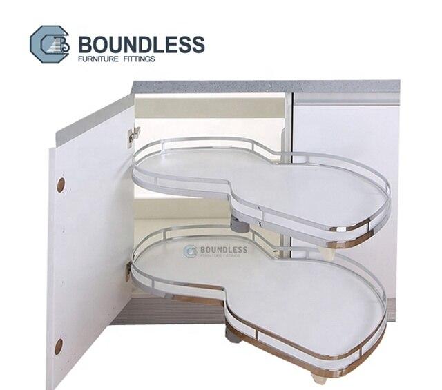 Kitchen Pull Out Cloud Blind Corner Basket Space Saving Two Tier Kitchen Basket Organizer BFF-1713