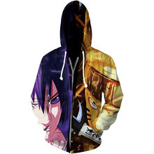 2021 Ninja Clothes Jacket Boys Spring and Autumn Teens 3D Printed Cartoon Anime Sweater Naruto