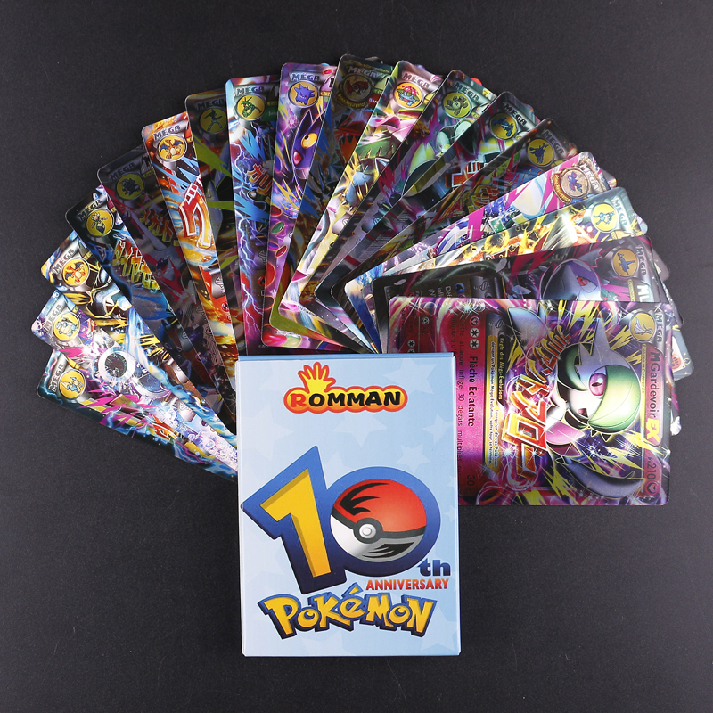 TAKARA TOMY 18 PCS No Repeat Pokemon French Card All EX MEGA Shining Pokemon French Card Game Battle Carte Trading Children Toy
