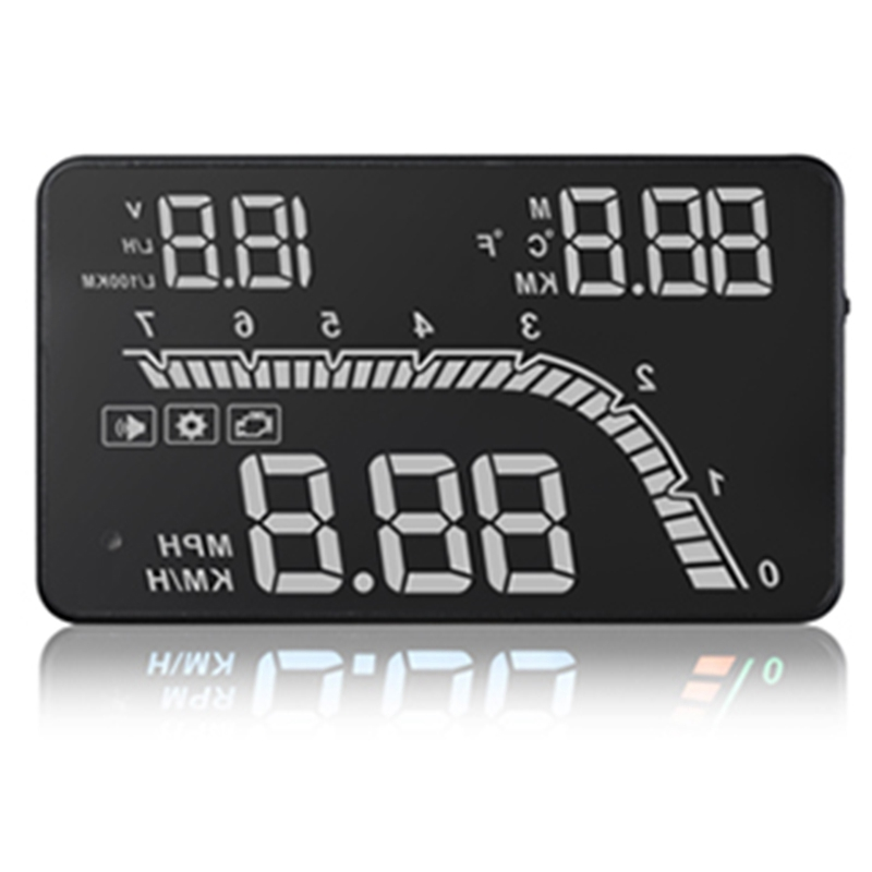 A100S T100 OBD Car Hud Head Up Head Up Display 2019 Temperature Gauge Obd Overspeed Warning System Projector Windshield