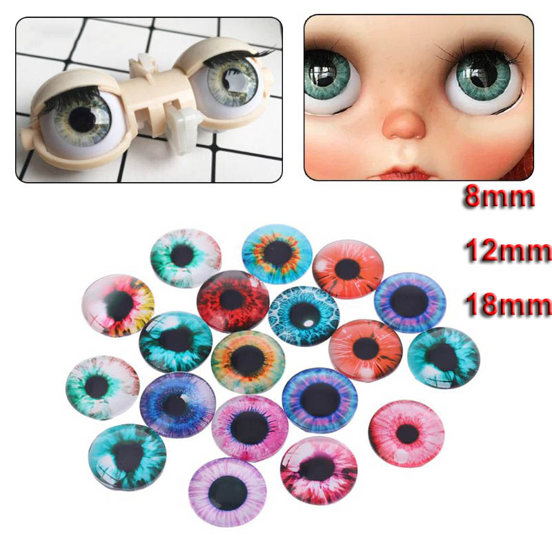 10Pairs Glass Doll Eyes Animal DIY Crafts Eyeballs For Dinosaur Eye Accessories Jewelry Making Handmade 8/12/18mm
