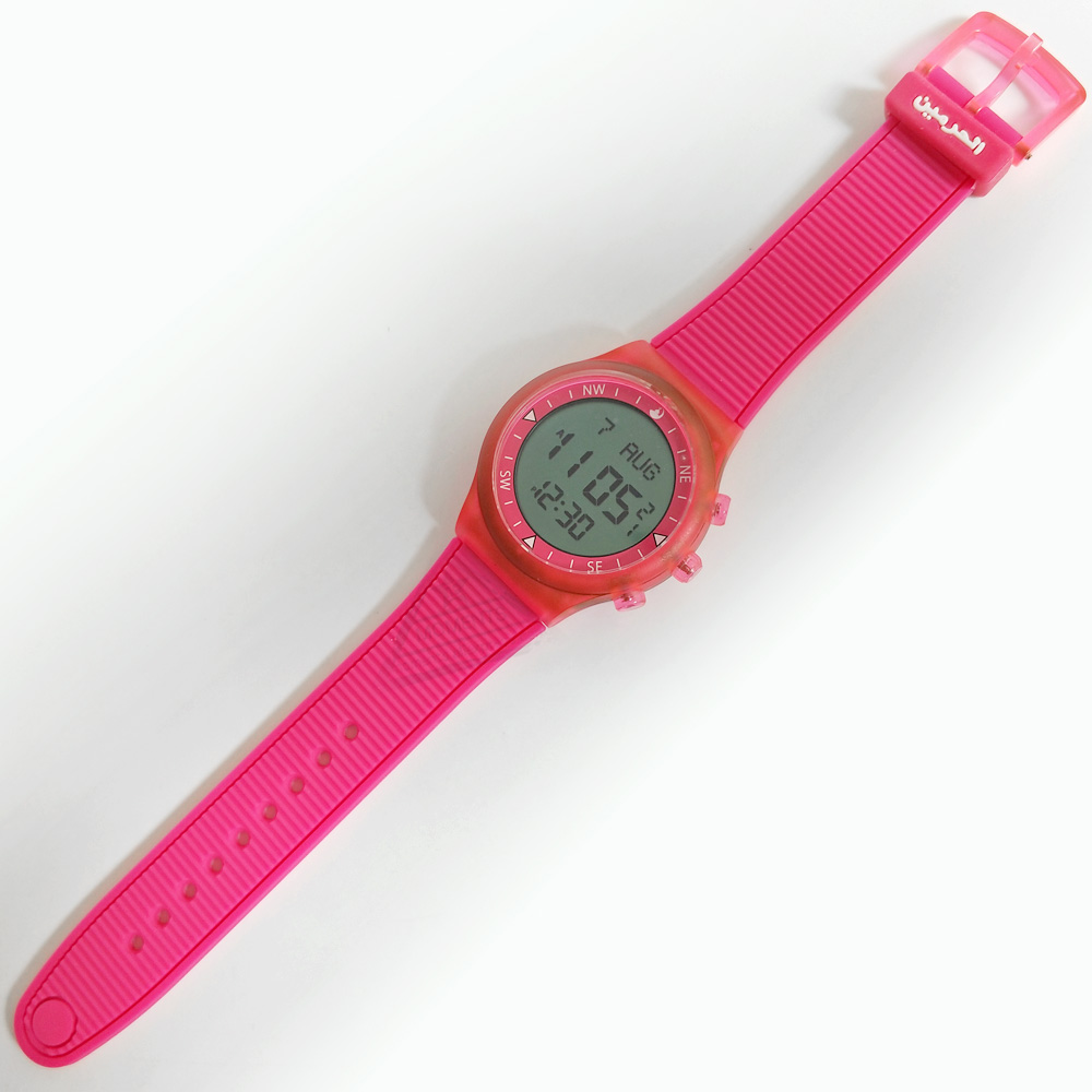 Muslim Kids Watch with Neon Color Qibla Direction Prayer Alarm and Alfajr Time 6506 WY-16