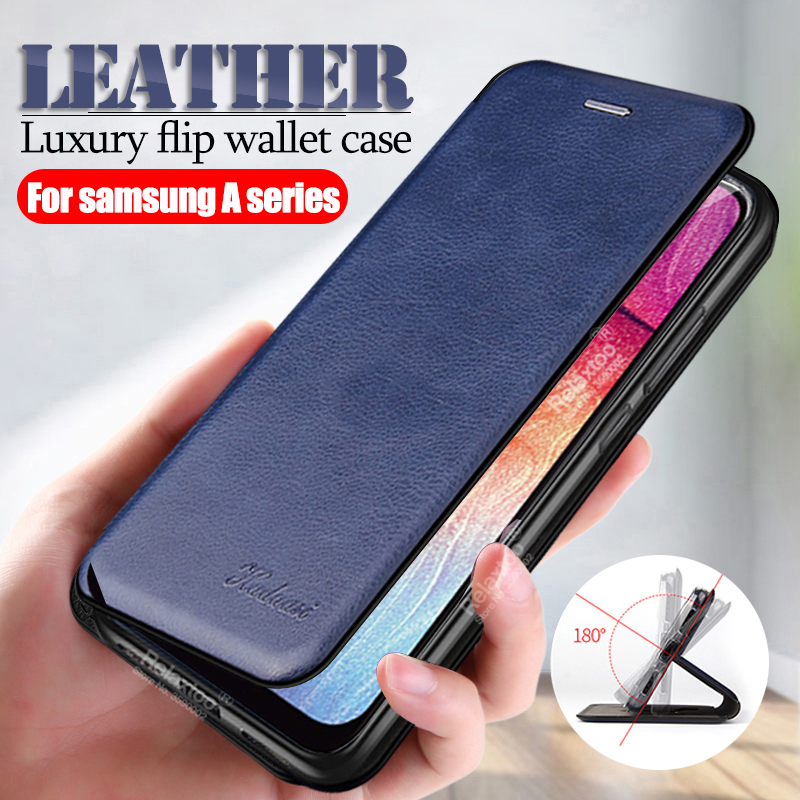 leather flip case For <font><b>samsung</b></font> a50 <font><b>2019</b></font> wallet card <font><b>cover</b></font> on the For <font><b>samsung</b></font> galaxy a10 a20 a20E a30 <font><b>a40</b></font> a70 a 50 Magnetic coque image
