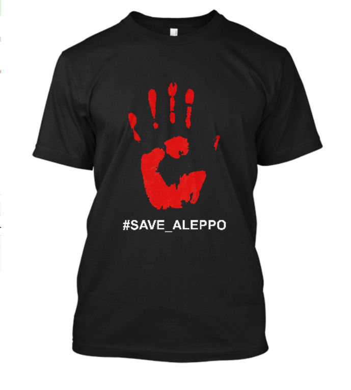 2019 Summer Mens Print T-Shirt Save Aleppo Support The Children of Syria #Save_Aleppo Black T-Shirt Size S-5XL  T Shirt
