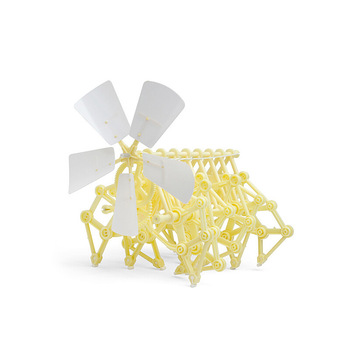 Puzzle assembling wind power vehicle science and education assembling wind power mechanical animal DIY self assembling toys фото