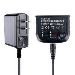 LCS1620 Power Tool Battery Charger For Black Decke Output Voltage 18-20V Output Current 400MA Lithium Battery
