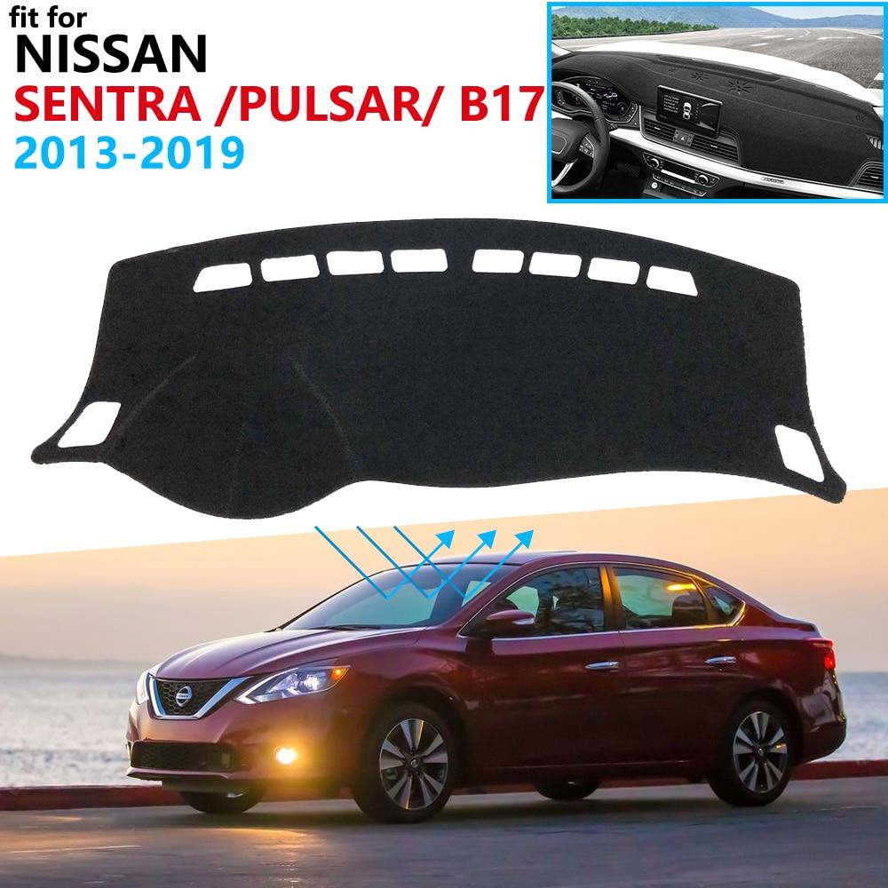 Dashboard Cover Protective Pad For Nissan Sentra B17 2013~2019 Pulsar Sylphy Car Accessories Dash Board Sunshade Carpet 2018