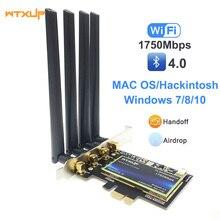Двухдиапазонный 802.11ac Настольный PCIe Wifi беспроводной адаптер для карты Bluetooth 4,0 BCM94360 для MacOS Hackintosh Windows