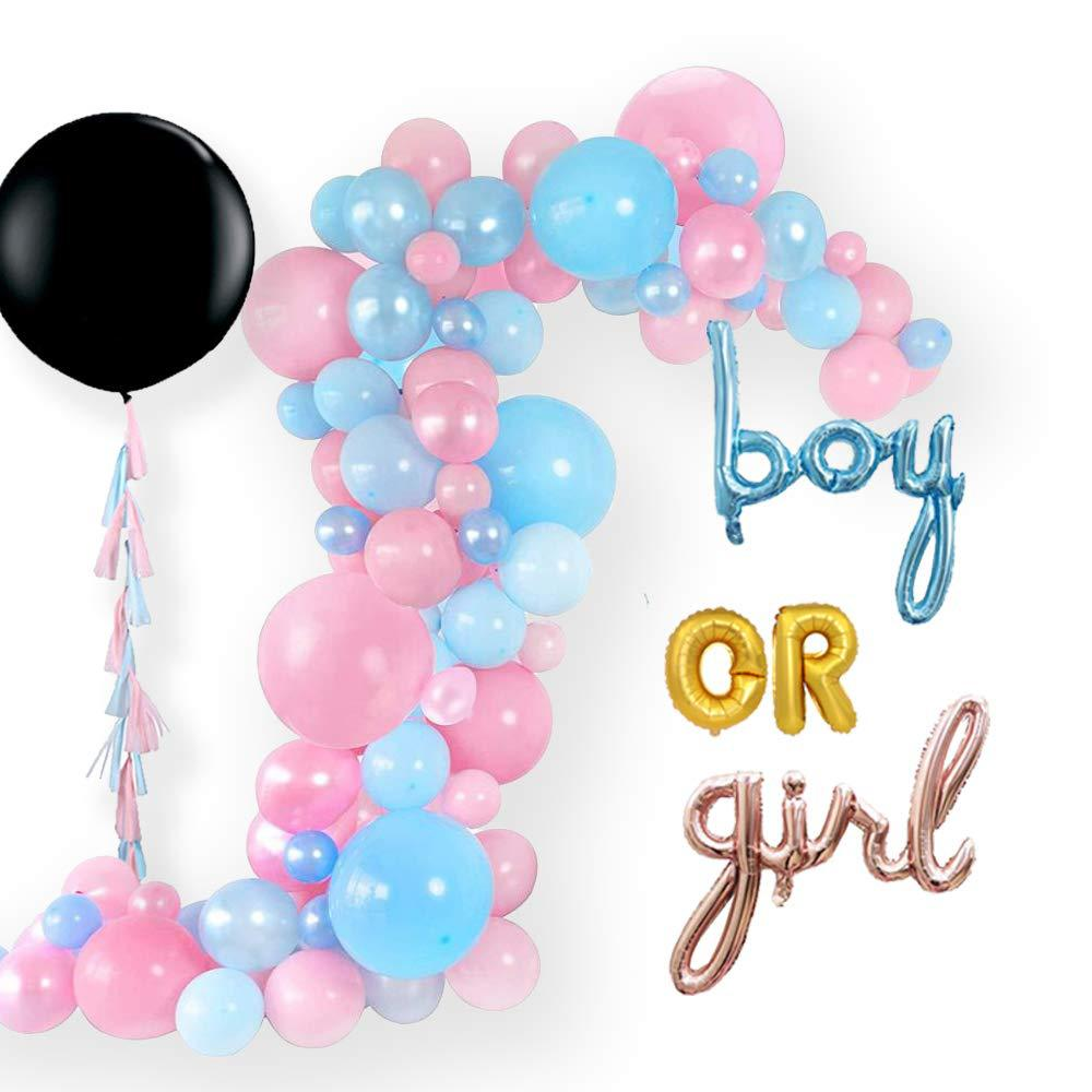 100 Pcs Boy Or Girl Baby Gender Reveal Party Supplies Hanging Garland Foil Balloon Decoration Bunting Banner Toys For Children