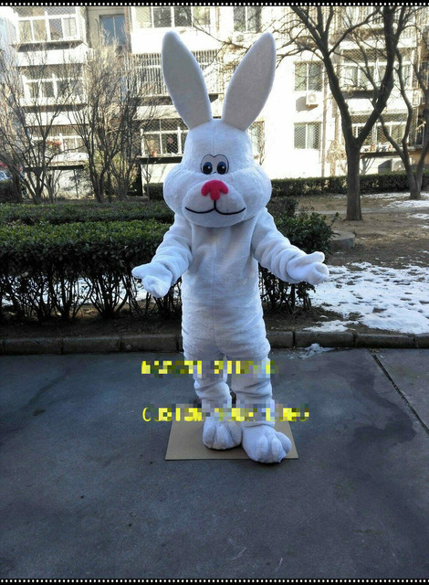 Rabbit Mascot Costume Suit Cosplay Party Game Dress Unisex Advertising Halloween Event Unisex Cartoon Apparel Cosplay Halloween