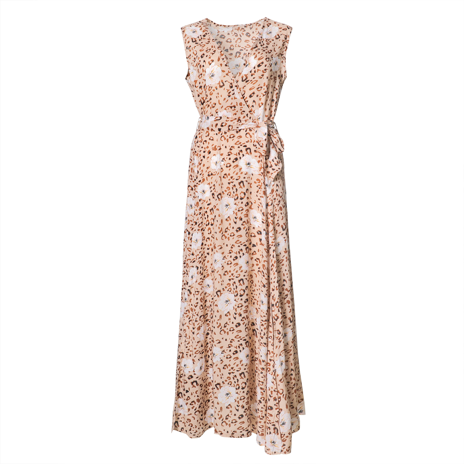 Jastie Women Summer Dress Floral Print Maxi  5