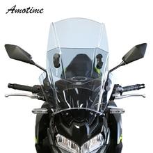 Für KAWASAKI YAMAHA HONDA BMW Up & Down Einstellbare Universal Motorrad Windschutz Windschutz Deckt Bildschirm Motorräder Deflektor
