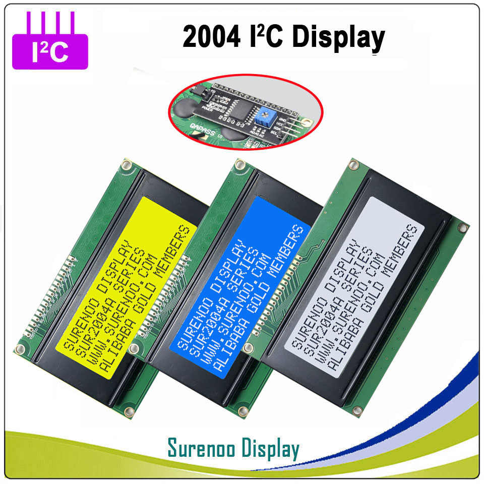 Serial IIC I2C TWI 2004 204 20*4 English & Japanese Character LCD Module Display Panel Screen for Arduino