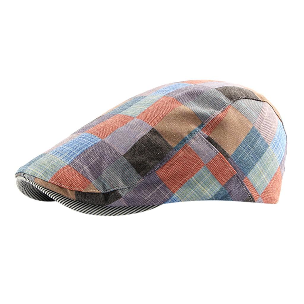 SAGACE  British Plaid Beret Outdoor Leisure Forward Cap Autumn Winter Plaid Men And Women Trend Fashion Style 2019