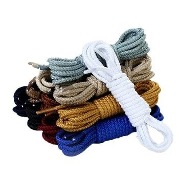 1 par de encajes de alta calidad, zapatillas con Cordones redondos, encajes sólidos de varios colores, encajes ricos 80 100 120 140 160 cm