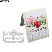 Happy Birthday Flower Metal Cutting Dies Stencil DIY Scrapbooking Album Stamp Paper Card Embossing Crafts Decor