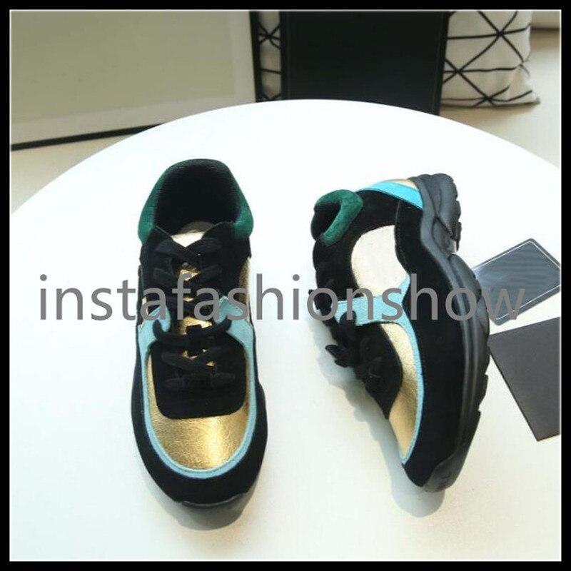 Vrouwen sneakers brand design trainer sneaker casual lederen platte designer tenis schoenen lace up trainer schoenen vrouw-in Sneakers voor vrouwen van Schoenen op  Groep 1