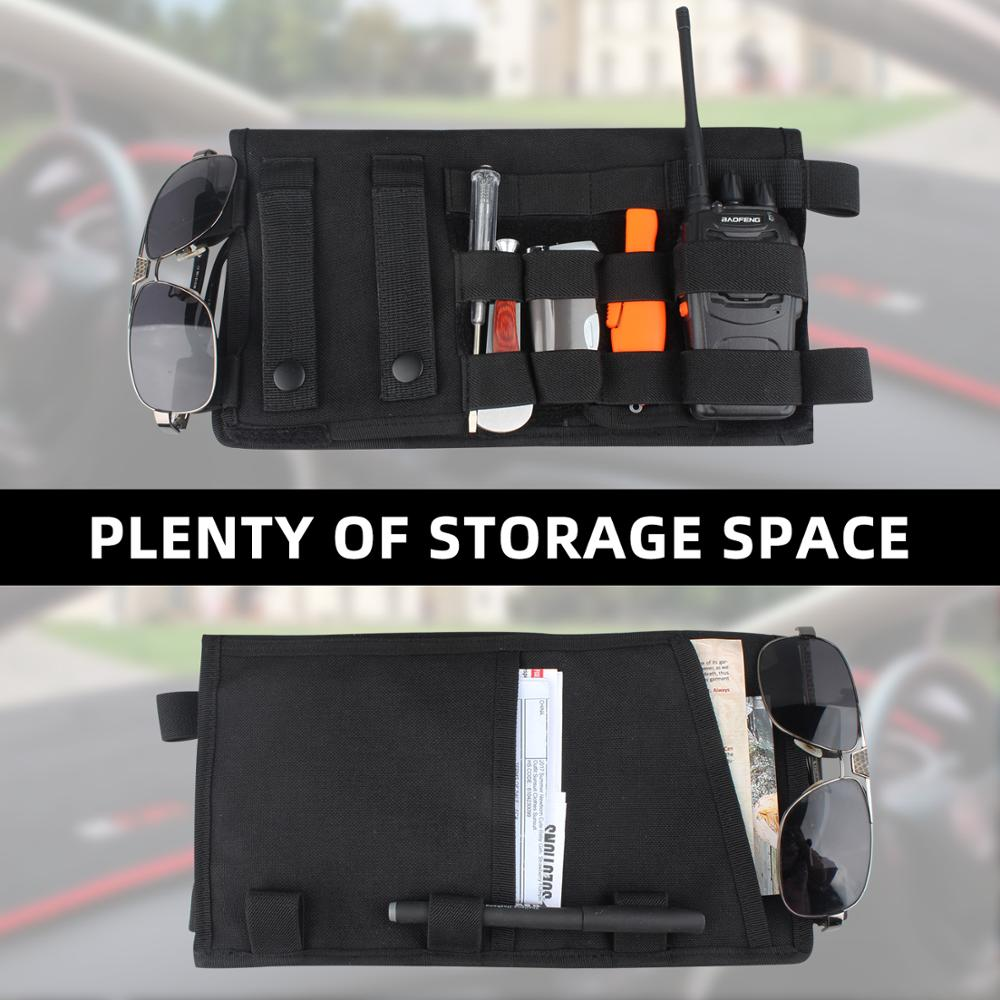 Image 5 - Kosibate Tactical Molle Vehicle Visor Panel Tool Pouch CD Storage Bag Truck Car Sun Visor Organizer Auto Gear Accessories HolderSport Bags Covers   -
