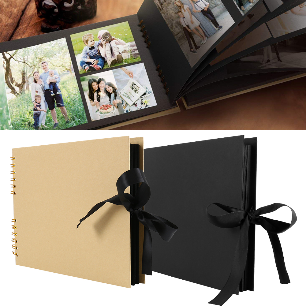 80 Pages Photo Albums Scrapbook Paper DIY Craft Album Scrapbooking Picture Album for Wedding Anniversary Gifts Memory Books image