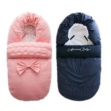 Baby Sleeping Bag Newborns Sleepsacks Blanket Envelope Bow Baby Outer Toddler Winter Warm Swaddle Stroller Wrap