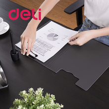 Deli A4 Clipboard Folder Writing Pad File Music score Test paper Board Clips Horizontal / Vertical School Office Stationery Gray ezone cartoon a4 print clipboard kawaii clip paper writing pad candy color file folder school office stationery clip supplies