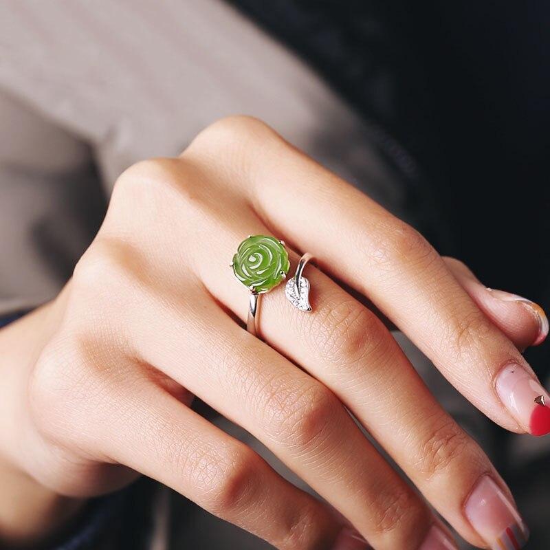 Хорошее ювелирное изделие Настоящее 18 к белое золото 100% натуральный красный гранат драгоценный камень 4.2ct женские кольца для женщин Изыска... - 3