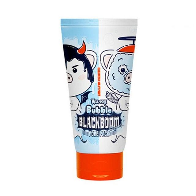 Elizavecca Milky Hell-Pore Bubble Black Boom Charcoal Pore Pack 150ml Deep Cleansing Black Mask Blackhead Remover Peel-Off Mask 1