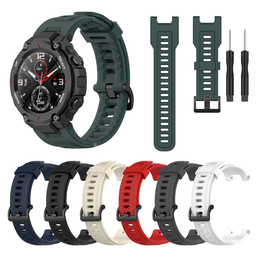 Silicone Strap For Amazfit T-REX Smart Watch Replaceable Accessories Watchband For Xiaomi Huami Amazfit T Rex Bracelet Correa