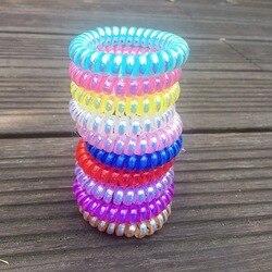 10 pièces mode téléphone fil coloré élastique bandes de cheveux filles gomme bracelet femmes craquant cheveux cravate accessoires bandeau