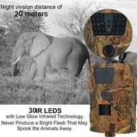 HT-001B Wild Camera 12MP 1080P 120-Degree Angle Trail Camera 30pcs Infrared LEDs 850nm Hunter Camera IP65 Waterproof hunting