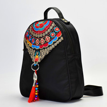 China New Embroidered Bag Oxford Cloth Women's Bag Embroidered Backpack Women's Atmospheric National Style Backpack
