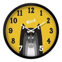 Гостиная креативные Современные Кварцевые часы, часы спальни в скандинавском стиле Модные Простые бесшумные настенные часы домашний декор