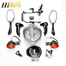 For Yamaha FZ6 FZ6N 2004 2005 2006 Motorcycle Head Light Lamp Headlight Headlamp Assembly Set w/ Turn Signals Rear View Mirrors