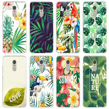 Soft Phone Case Silicone for Xiaomi Mi Note Max 2 3 4 5 5S 5X 6 6X 8 9 SE A1 A2 Lite Plus Summer Creatives Tropical Wind Plant(China)