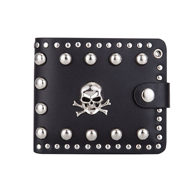 Vintage Skull Head Wallet w/ Key Chain  3
